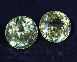 3.2 CTS ZIRCON PAIR FROM SRI LANKA -  TOP DIAMOND CUT [ST9588]