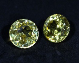 3.25 CTS ZIRCON PAIR FROM SRI LANKA -  TOP DIAMOND CUT [ST9589]