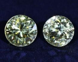 3.3 CTS ZIRCON PAIR FROM SRI LANKA -  TOP DIAMOND CUT [ST9594]