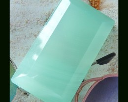 128 Cts Natural Green Jade Square Cabochon Wholesale Gemstone