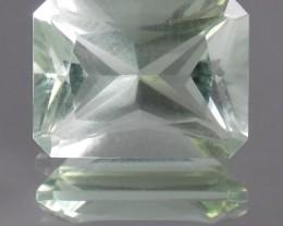 10.57ct Emerald Cut Prasiolite
