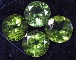 3.6 CTS 6 MM PAIR OF ROUND CUT PERIDOT GEMS (ST9650)