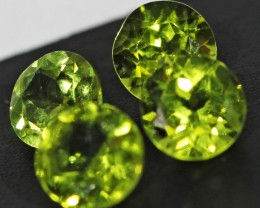 3.3 CTS 6 MM PAIR OF ROUND CUT PERIDOT GEMS (ST9652)