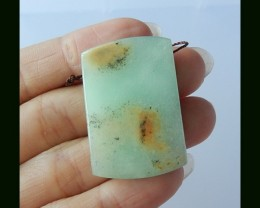 80Cts Natural Chrysoprase Pendant Bead
