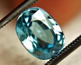 3.95 Carat VVS Blue Southeast asian Zircon - Lovely