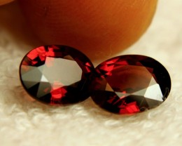 5.15 Carat Matched VVS Rhodolite Garnets - Lovely