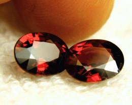 5.15 Carat Matched VVS Rhodolite Garnets - Lovely