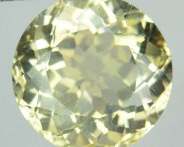 7.19 Cts Natural Tanzanian Unheated Mint Yellow Scapolite 12mm Round NR