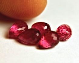 6.07 Tcw. Ruby Briolettes - Gorgeous