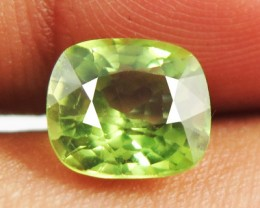 2.46ct Sparkling Luster Bright Lime Green Color Peridot VVS -RI28