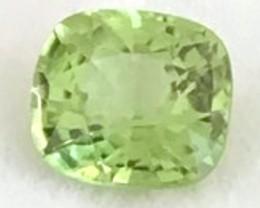 Luminous 2.46ct Cushion Cut Green Peridot - Mogkok Burma G01