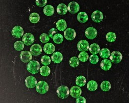 1.65 CTS 1.7  MM TSAVORITE BRIGHT PARCEL.[ST9714]