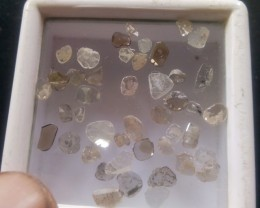 NATURAL DIAMOND SLICES-3.20CTWLOT--45PCS