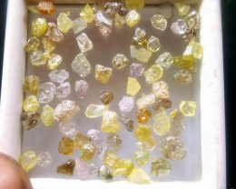 NATURAL MULTICOLOUR DIAMOND SLICES -10CTWLOT