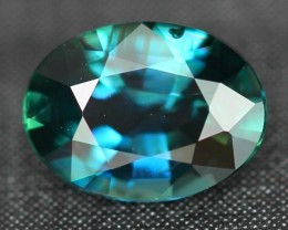 CERTIFIED 1.62Ct Natural UNHEATED Greenish Blue Sapphire