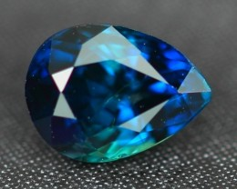 CERTIFIED 1.01Ct Natural UNHEATED GREENISH BLUE SAPPHIRE