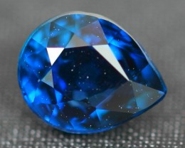 CERTIFIED 1.02Ct Natural UNHEATED VIVID BLUE SAPPHIRE