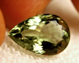 12.85 Carat VVS Green South American Prasiolite (Green Amethyst)