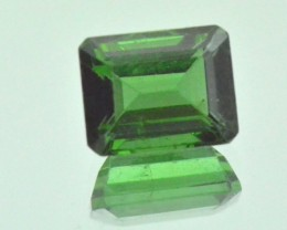 Chrome Green Tourmaline Cushion cut