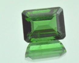 Chrome Green Tourmaline Cushion cut
