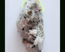 94.6 Cts Natural Rose Quartz With Pyrite Specimen Wholesale