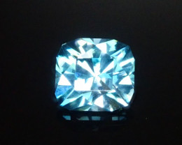 Custom Cut Blue Zircon 2.40ct