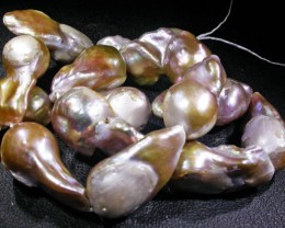 Strand  Golden Keishi Fresh Water Cultured  Pearls AGR 1676