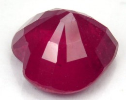 1.98 Cts Natural Blood Red Ruby Cute Heart Gem NR