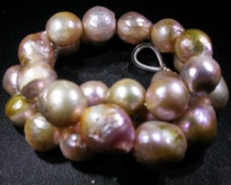 Strand  Colorful  Baroque Fresh Water Cultured  Pearls,Luster AGR1732
