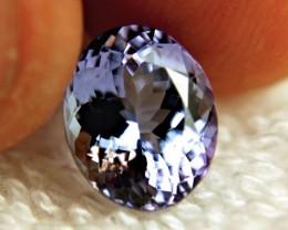 4.15 Carat IF/VVS1 African Purple Blue Tanzanite