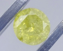 Stunning Natural 0.48ct Canary Yellow Diamond Color Enhanced