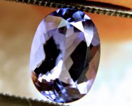 1.80 Carat Purple Blue African VVS1 Tanzanite - Gorgeous