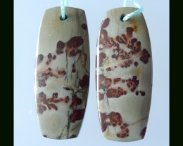 40 Cts Natural Chohua Jasper Earring Beads