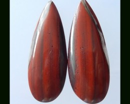 60.15 Cts Natural African Bloodstone Cabochon Pair