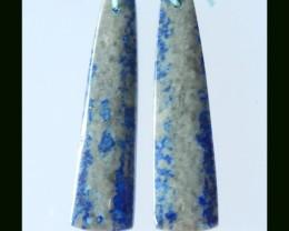 40.25 Cts Natural Lapis Lazuli Earring Bead