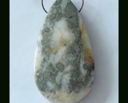 108 Cts Teardrop Pyrite  Pendant Bead