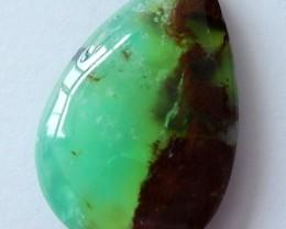 High Quality Crystal Green Beautiful Chrysoprase Teardrop Cabochon