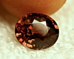 4.12 Carat VVS1 Orange Southeast Asian Zircon - Gorgeous