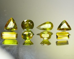 "Rare 5.490 ct ""8 pcs World class luster Untreated Sphene aka Titani"