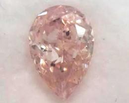 GIA Certificate Pear 0.52 Carat Natural Fancy Color Orange Pink Loose Diamo