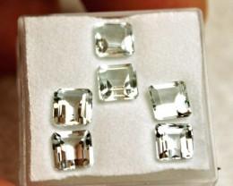 4.38 Tcw. VS Aquamarine Accent Gems - 6 Pieces - 5mm