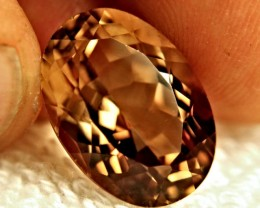 16.88 Carat VVS1 Golden Brown Natural Topaz