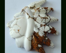 Special Handmade Howlite Indian Carving
