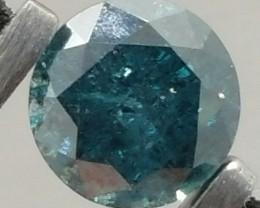 Spectacular Natural 0.88ct Blue Diamond + Video Clip