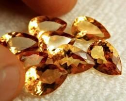 36.85 Tcw. VVS1 Brazil Citrine Pears - Lovely Gems