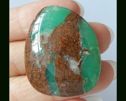 48 Cts Natural Green Chrysoprase Cabochon