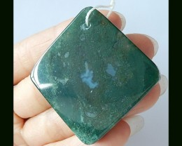 100.5 Cts Natural Moss Agate Pendant Beads