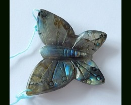 70 Cts Natural Big Labradorite Buttefly Carving