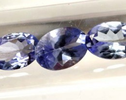 TANZANITE  VIOLET BLUE 1.35  CTS  3 PCS PG-1684