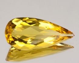 3.31 Cts Natural Golden Yellow Beryl Pear Cut Brazil Gem